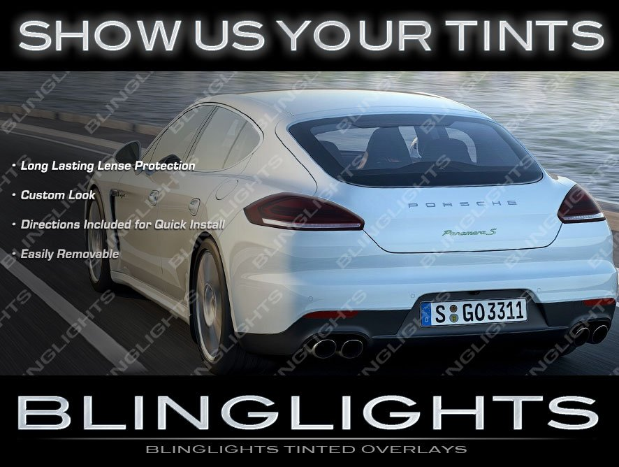 Porsche Panamera Tint Lense Film Tail Light Overlays Lamp Smoked Protection Film Kit