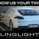 Porsche Panamera Tint Lense Film Tail Light Overlays Lamp Smoked Protection Film Kit