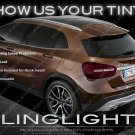 Mercedes GLA-Class Tinted Tail Light Overlays Smoked Film Covers X156