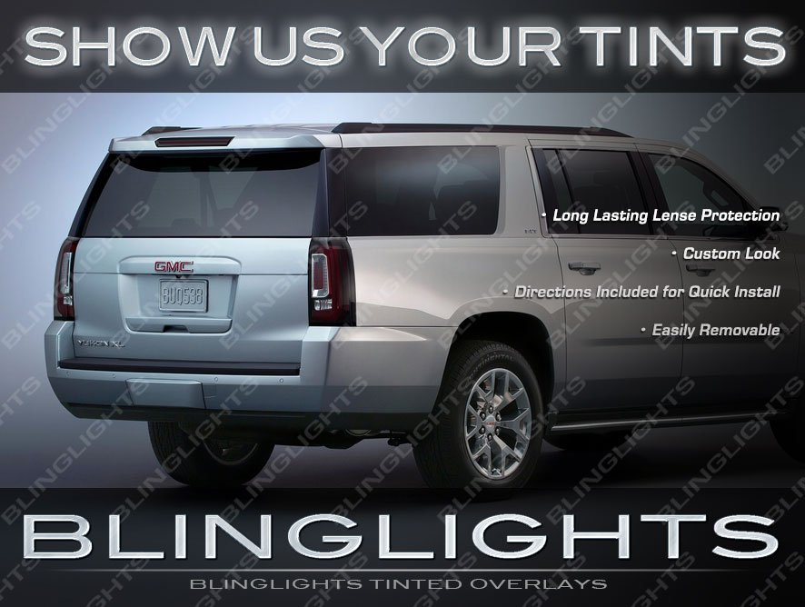 Chevy Suburban Smoked Taillight Protective Lense Overlays Tinted Taillamp Film Covers Kit
