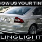 Volvo S80 Murdered Out Taillamp Overlays Kit Smoked Lense Film Covers