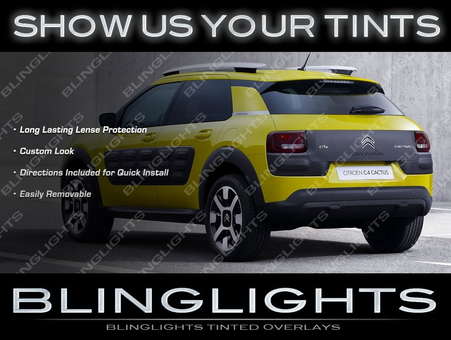 Citroen C4 Cactus Tinted Taillamp Overlays Kit Smoked Citroën Taillight Covers Lense Film