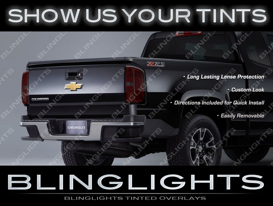 Chevrolet Colorado Murdered Out Taillight Overlays Chevy Taillamp Tinted Covers Kit