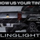 Chevrolet S10 Murdered Out Taillamps Film Covers Tinted Chevy S-10 Taillights Overlays Kit