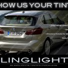 BMW 2 Series Active Tourer Tinted Taillamp Overlays F45 Taillight Cover Film Kit