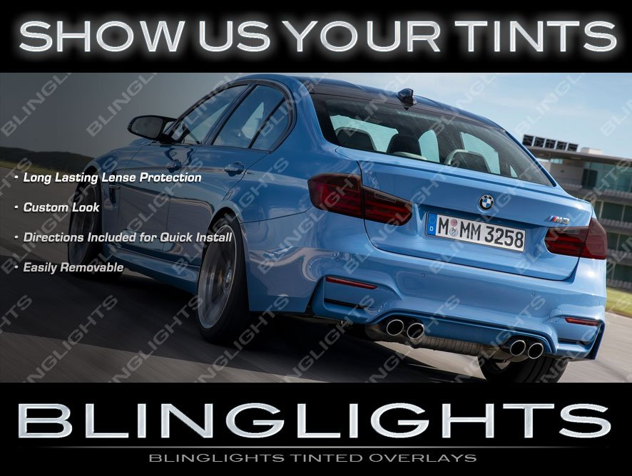 BMW 3-Series F30 F80 Tinted Tail Light Film Covers Smoked Overlays Kit