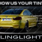 BMW F82 F83 F84 M4 Murdered Out Taillight Overlay Covers Tinted Taillamp Film