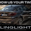 BMW X6 Tinted Smoked Taillamps Taillights Overlays Film Covers Kit E71 E72 F16