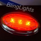 Red LED Flusmount Brake Lights Rear Stop Lamp Indicators Set