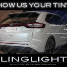 Ford Edge Tinted Tail Lamps Overlays Kit Smoked Light Covers