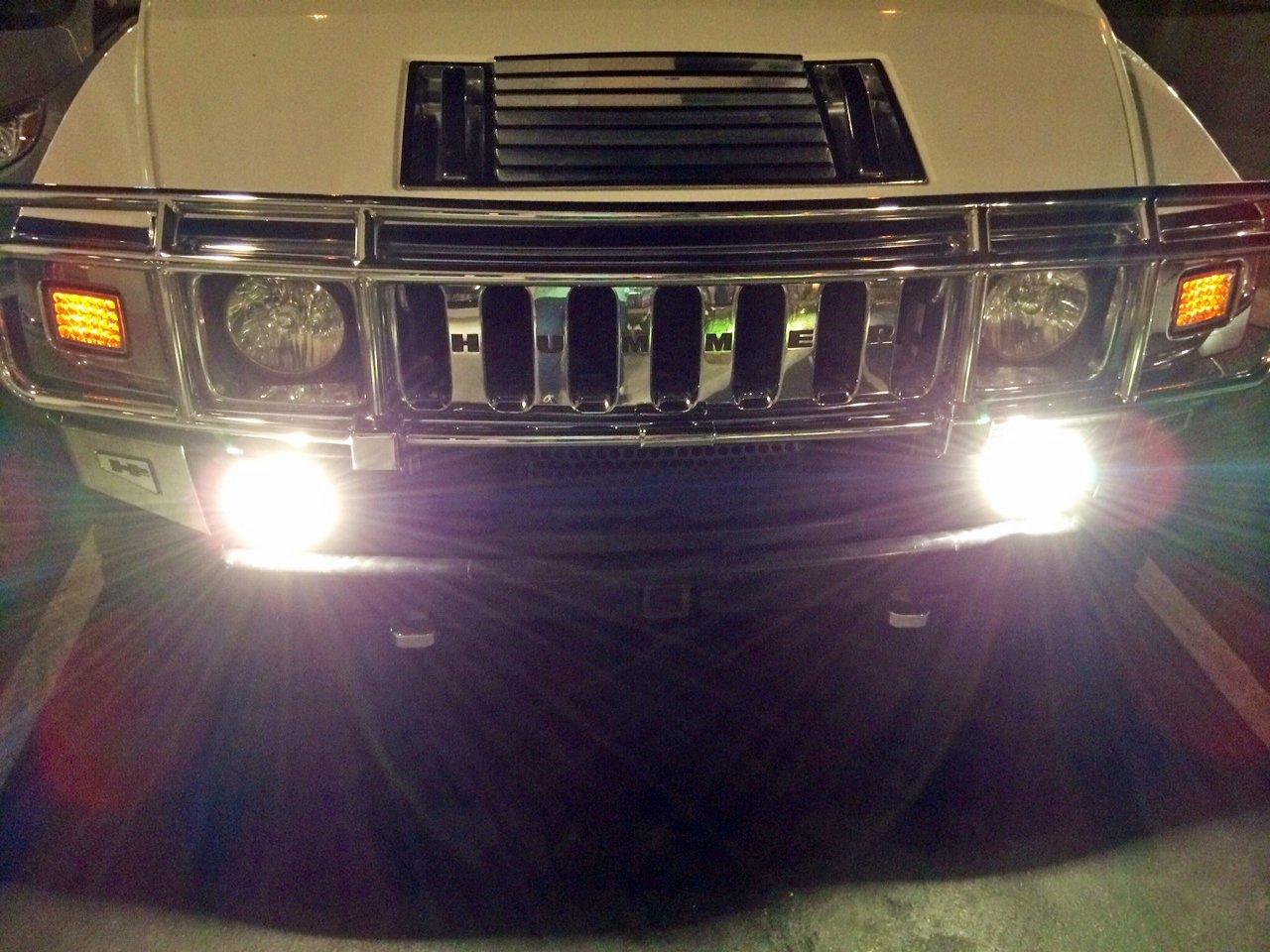 Hummer H3 Bumper Fog Lamps Driving Lights Kit 2006 2007 2008 2009 2010