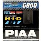 PIAA 19985 D1S Alstare 6000K Xenon HID Lights Bulb Pair