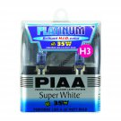 PIAA H3 Platinum Xtra Super White 35W=60W Light Bulbs Twin Pack 15635