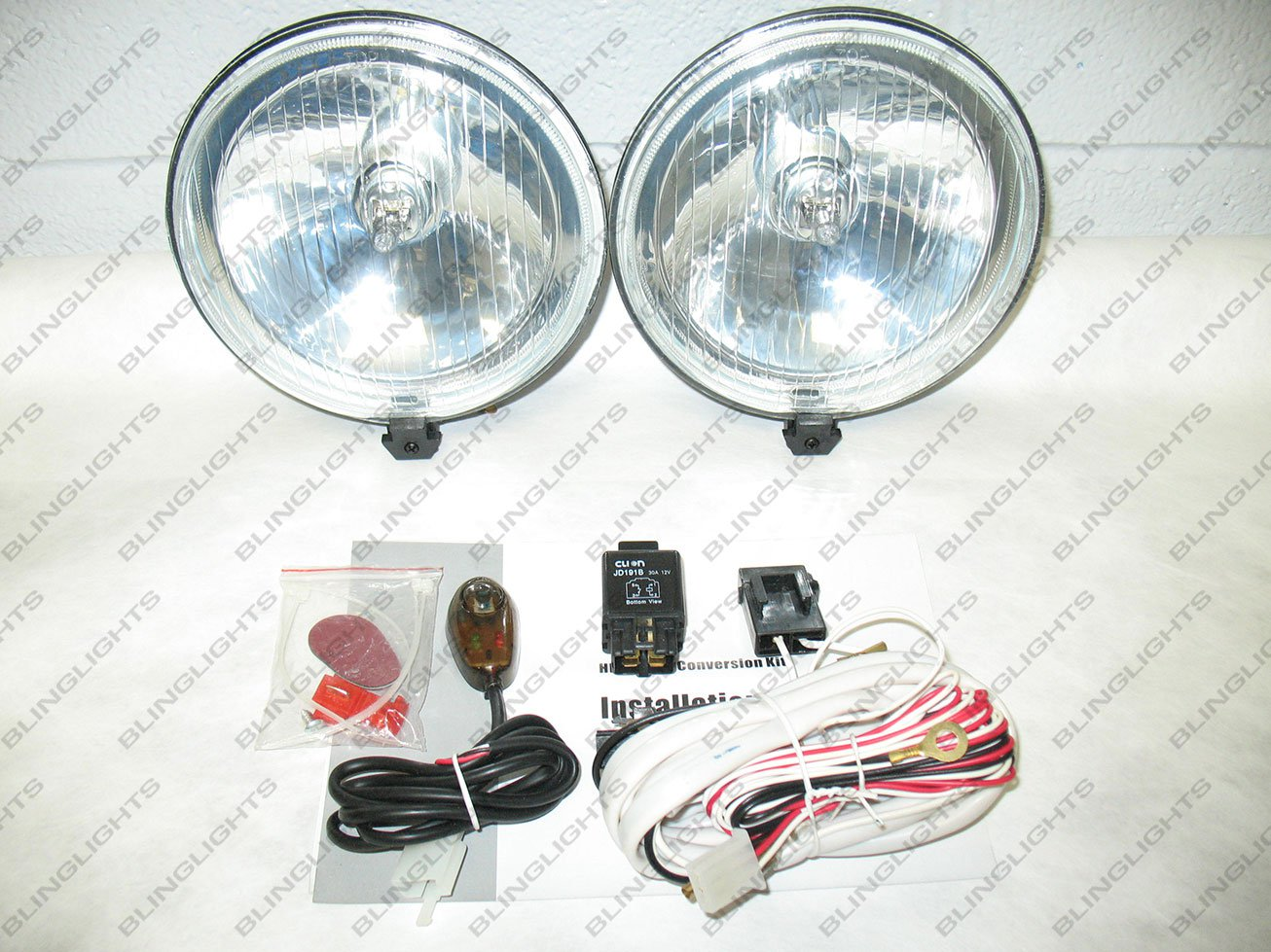 """Univerasal 6"""" Round Off Road Auxilliary Bumper Lamp Bar Driving Light Kit"""