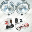 "6"" Round Off Road Auxiliary Bar Lamps 4x4 Driving Lights Kit"