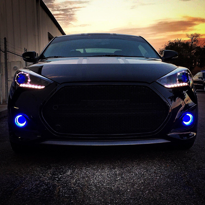 2013-2018 Hyundai Veloster Turbo Halo Fog Lamps Angel Eye Lights Kit
