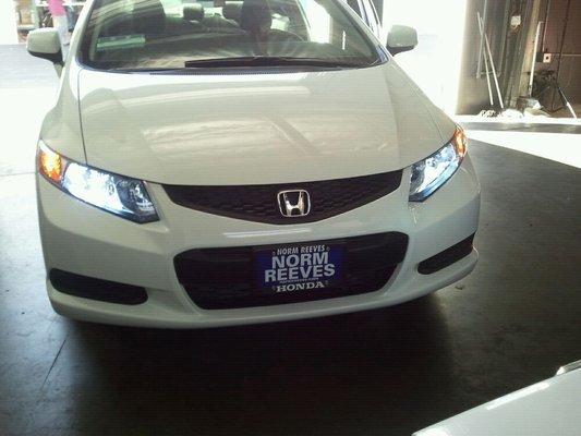 Honda Civic Xenon HID Simulated Head Lamp Replacement Light Bulbs