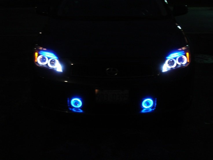 2005-2010 Scion tC White Angel Eye Fog Lamps Lights Kit