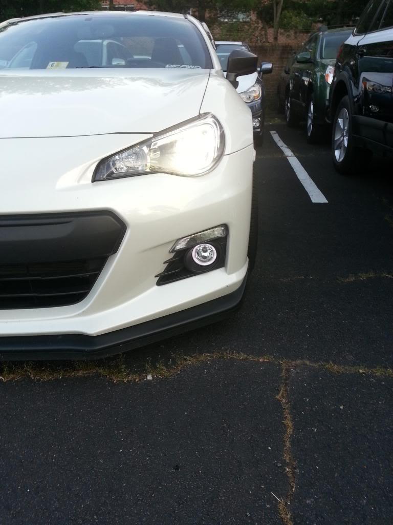 Subaru BRZ Angel Eye Fog Lamps Halo Driving Lights Kit