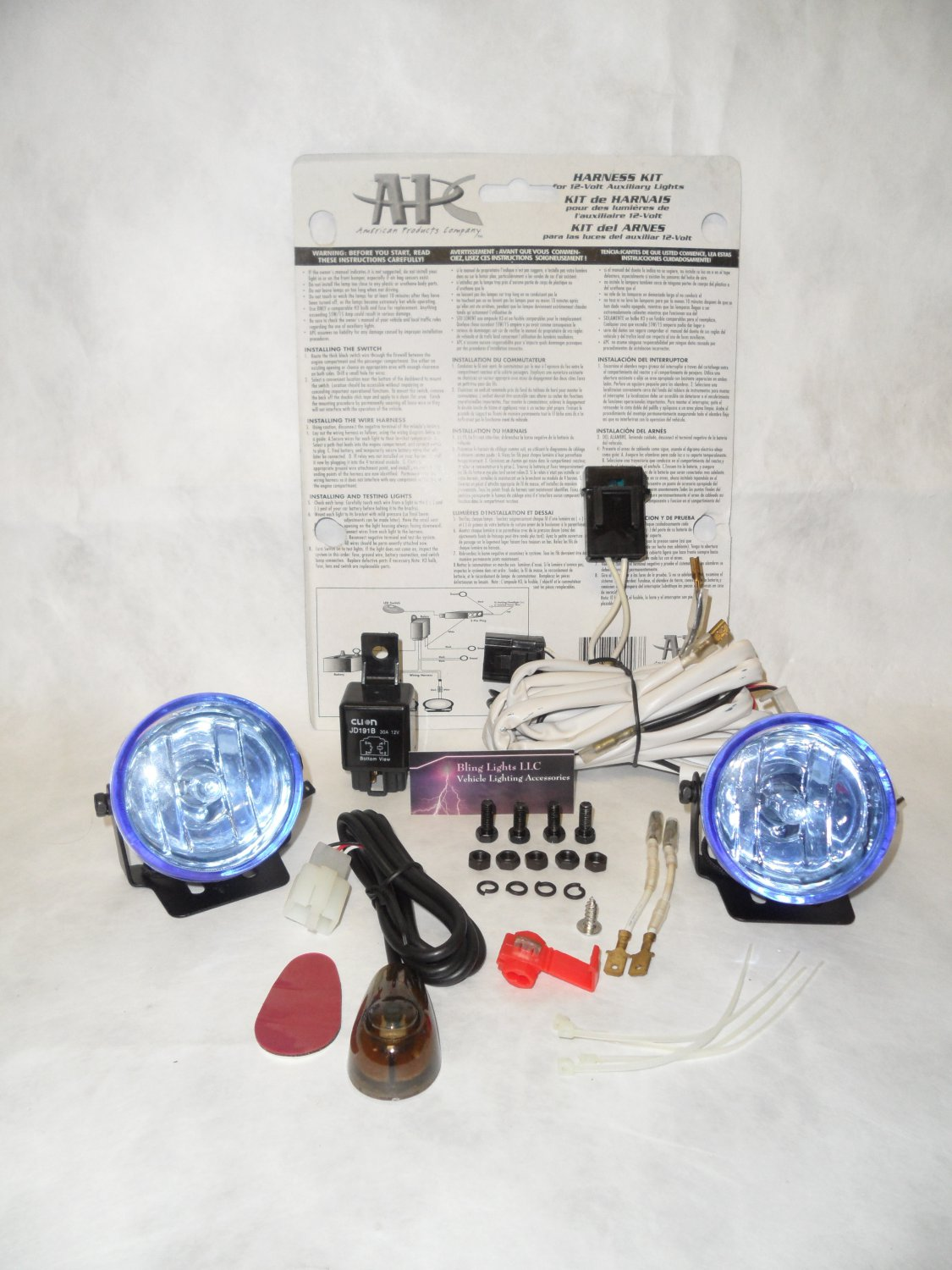 """Small 2.5"""" Inch Round 55w Fog Lights Driving Lamps Compact 2 1/2 Foglamps Drivinglights Universal"""