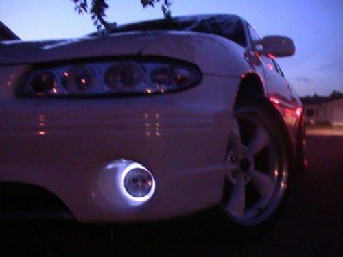 1997-2003 Pontiac Grand Prix White Angel Eye Fog Lamps Lights Kit