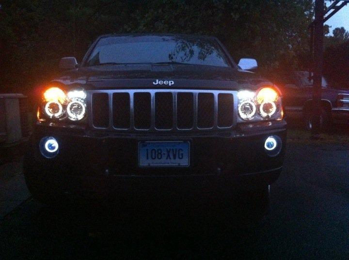 2005-2010 Jeep Grand Cherokee Halo Fog Lamps Lights Kit