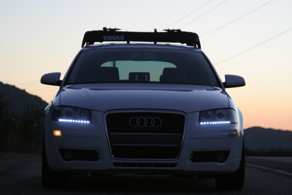 Audi A4 LED DRL Head Light Strips Day Time Running Lamps Kit