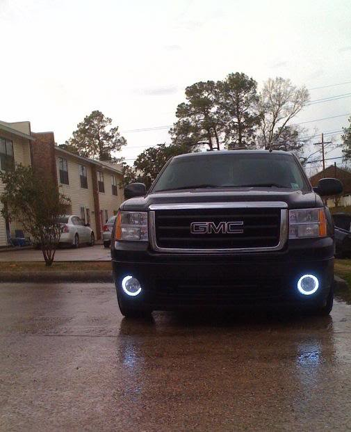 Angel Eye Fog Lamps Lights for 2007-2013 GMC Sierra 1500 / Denali
