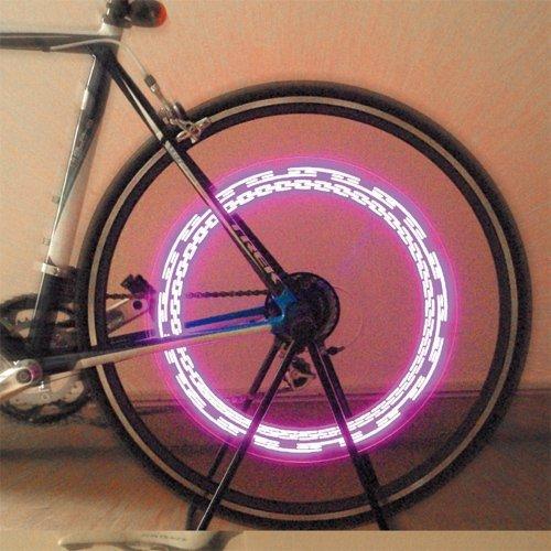 PIAA Ferris PINK LED Wheel Pattern Lights Bike / Motorcycle (batteries included)