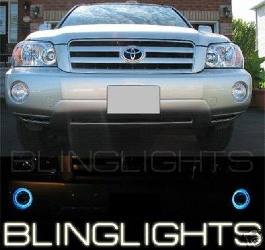 2001-2007 Toyota Highlander Angel Eye Fog Lamps Driving Lights