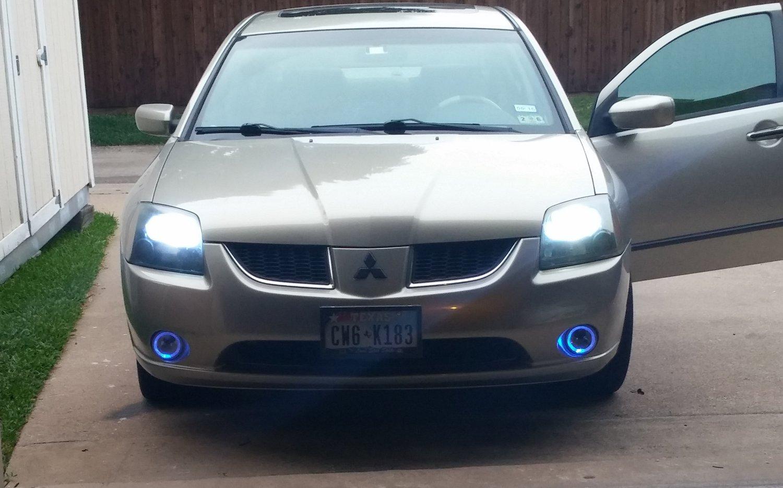 2004-2009 Mitsubishi Galant White Halo Fog Lamps Lights