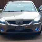 2004-2009 Mitsubishi Galant White Halo Fog Lamps Lights