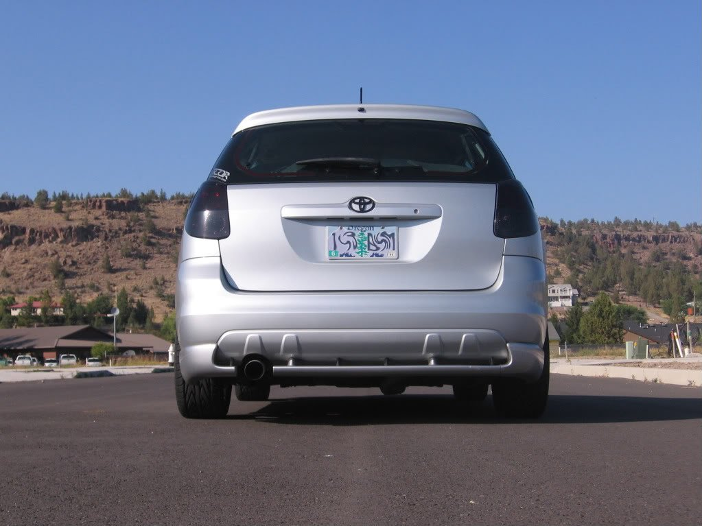 Toyota Matrix Murdered Out Tail Lights Covers Tinted Lamp Lense Overlays Smoked Film