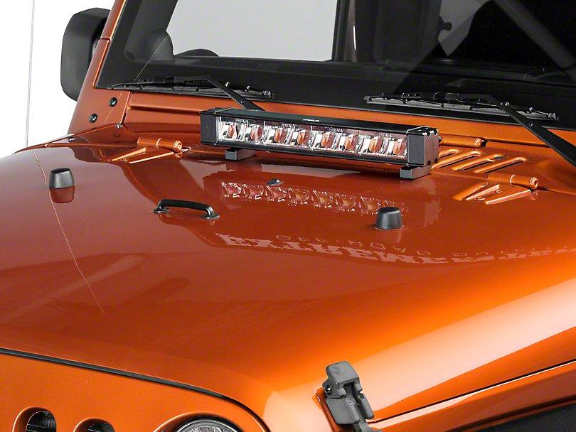"""Jeep Wrangler PIAA 6000K 18"""" 64W LED Hybrid Fog or Driving Light Bar"""