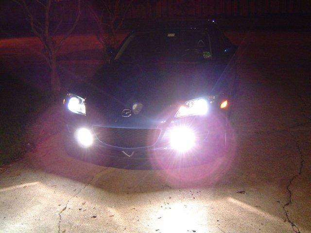 2004 2005 2006 2007 2008 Mazda RX-8 Halo Fog Lamps Driving Lights Kit