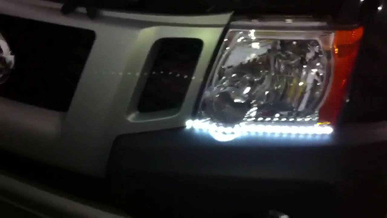 Nissan Xterra LED DRL Head Light Strips Daytime Running Lamps