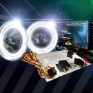 BlingLights BL5000K 4-Inch Round White Halo Angel Eye Fog Driving Lamp Kit