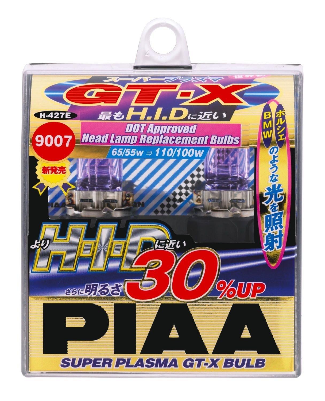 PIAA 9007 Super Plasma 5000K GT-X 65/55=110/100-Watt Light Bulbs Twin Pack (H-427E)