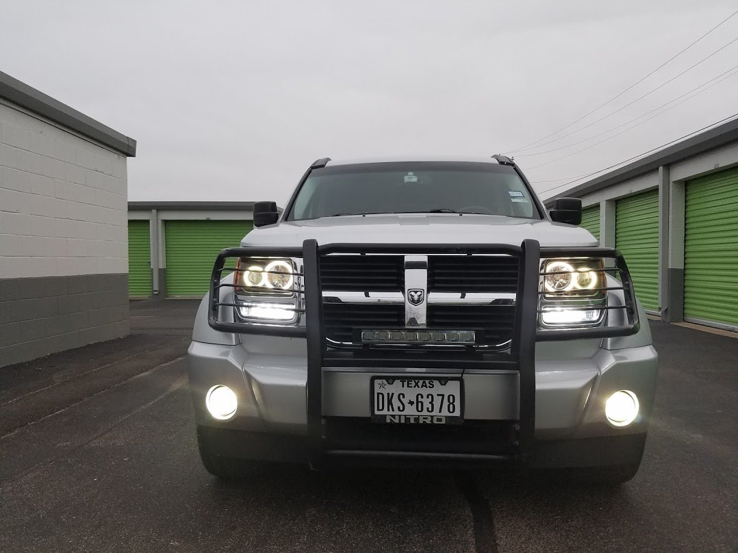 2007-2012 Dodge Nitro White Angel Eye Fog Lamps Lights Kit