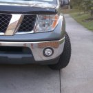 2005-2009 Nissan Frontier Fog Lamps Driving Lights Plastic / Steel Bumper Kit