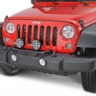 PIAA Black 2x Lamp Bumper Bar for 2007-2018 Jeep Wrangler JK