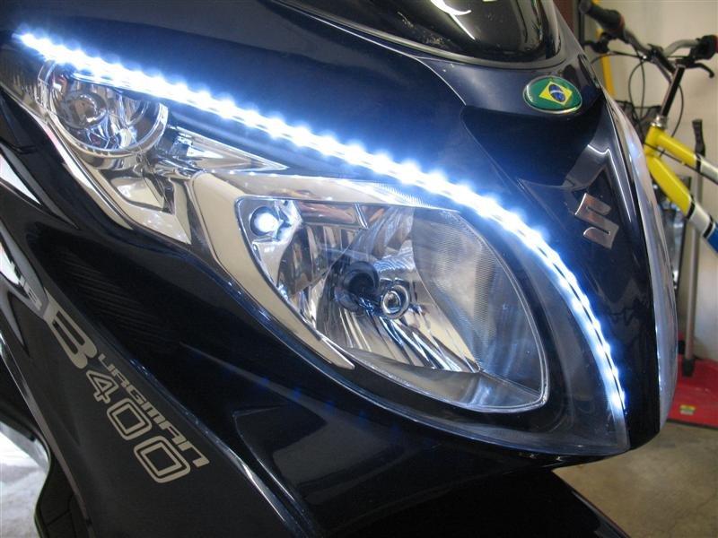 Suzuki Burgman LED DRL Head Light Strips Daytime Running Lamps Kit