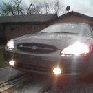 2000 2001 2002 2003 Ford Taurus White Fog Lamps Driving Lights Kit