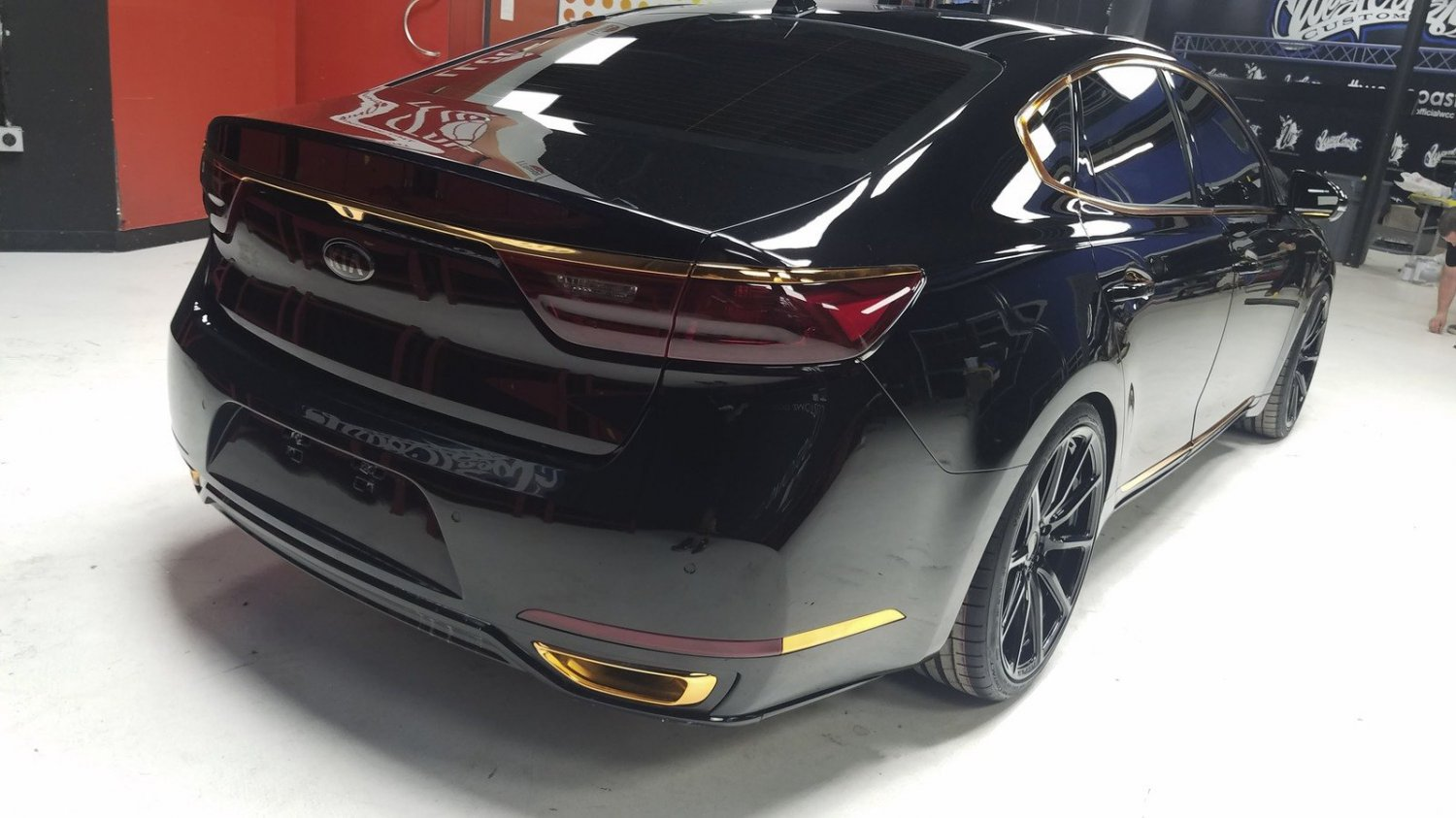 Kia Cadenza Tinted Tail Lights Overlays Smoked Lamps Protection Cover Film