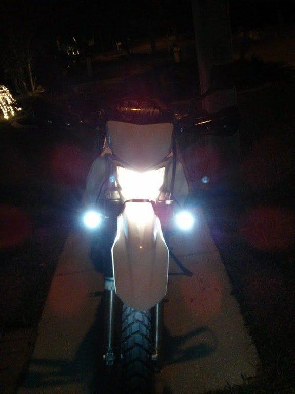 kawasaki klx250 klr650 auxiliary 6000k led lamps lights