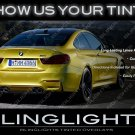 BMW F82 F83 F84 M4 Smoked Tail Lamp Film Covers Tinted Light Overlay
