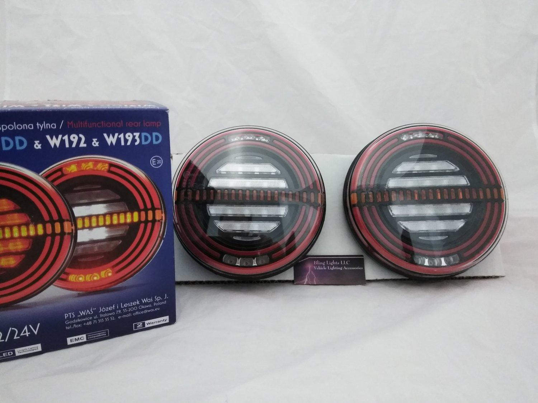 WA� W193DD Euro Spec Universal Multifunctional LED Tail Lamps Lights Set of 2