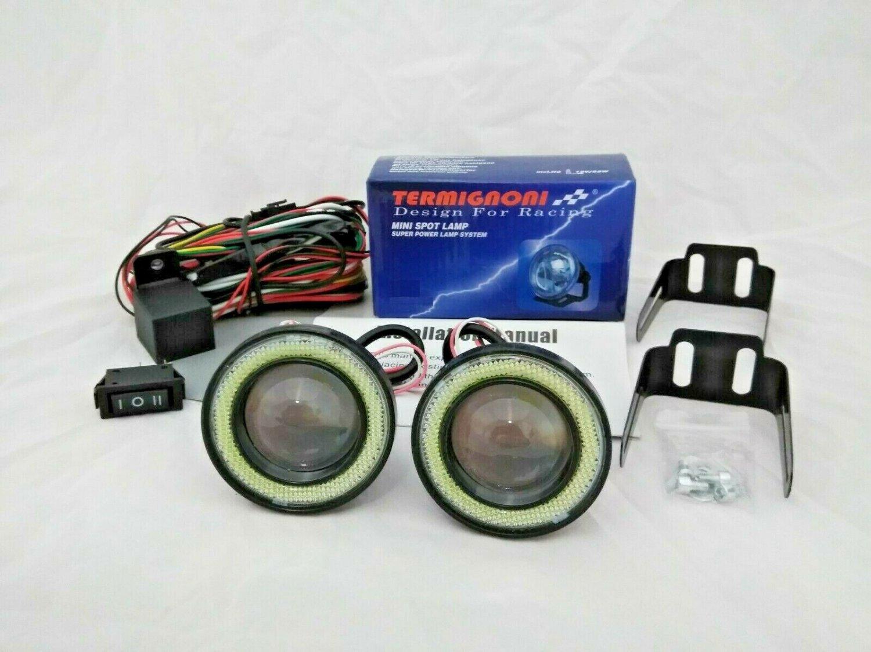 "2.5"" Blue or White Halo Angel Eye LED Fog Lights Kit"