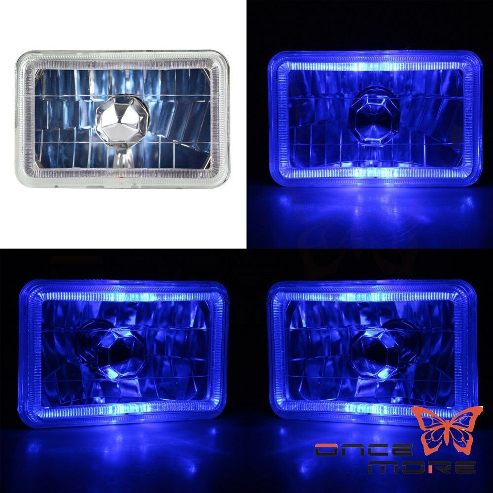 4in x 6in Blue LED Sealed Beam Replacement Headlight Housing
