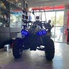 4x Blue LED Can-Am ATV UTV Addon Angel Eye Headlamp Headlight Halo Rings